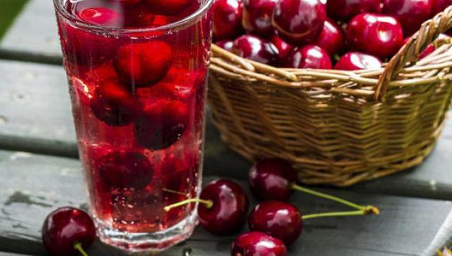 Agua de cerezas