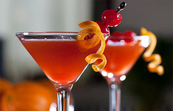 Martini Dulce con cerezas